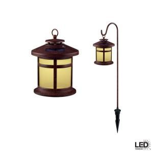 Hampton Bay Reviere Outdoor Rustic Bronze Solar LED Lights (6 Pack) 10388