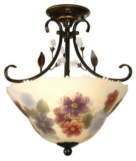 Dale Tiffany Cosmos Hand Painted Semi Flush Mount   15 watt in