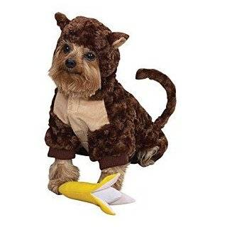Zack & Zoey Plush Curious Monkey Halloween Dog Costume with Poseable