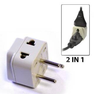 OREI Grounded Universal 2 in 1 Plug Adapter Type H for Israel & more